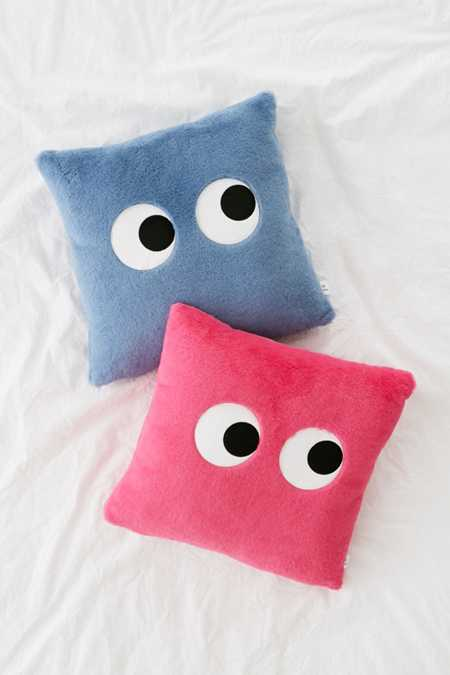 Googly Eyes Plush Throw Pillow