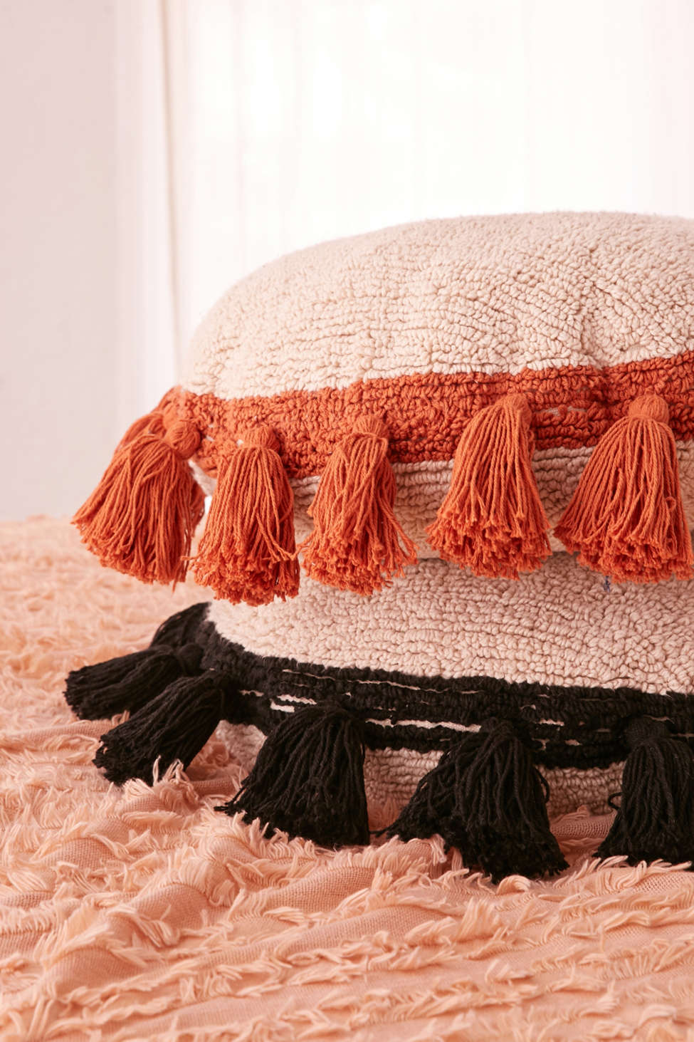 Slide View: 4: Lorena Canals Round Tassel Pillow