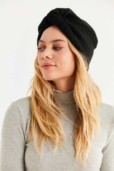 Knot-Front Knit Beanie