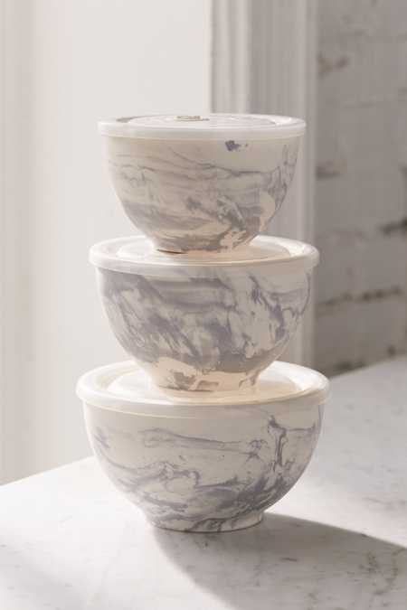 Marble Ceramic To-Go Bowl - Set Of 3