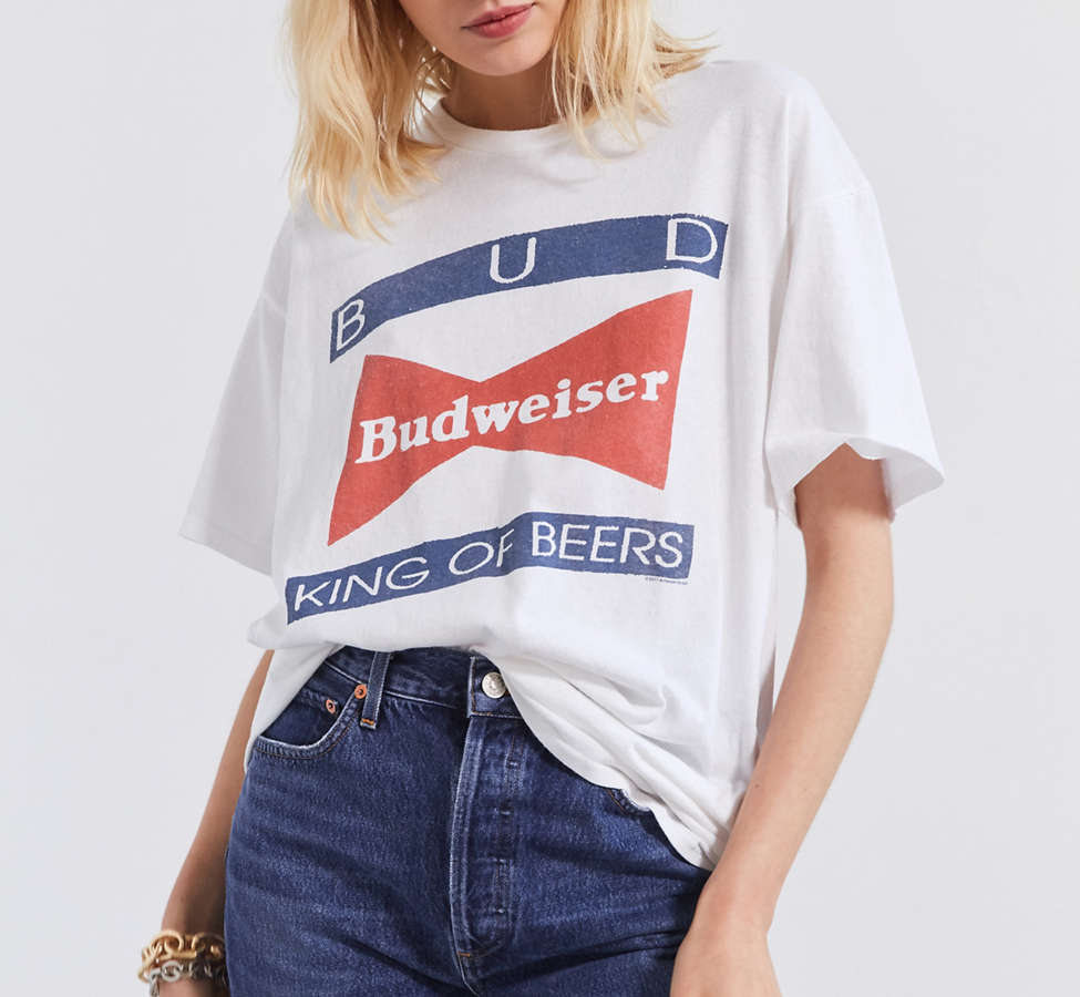 Slide View: 1: Junk Food Budweiser King of Beers Tee