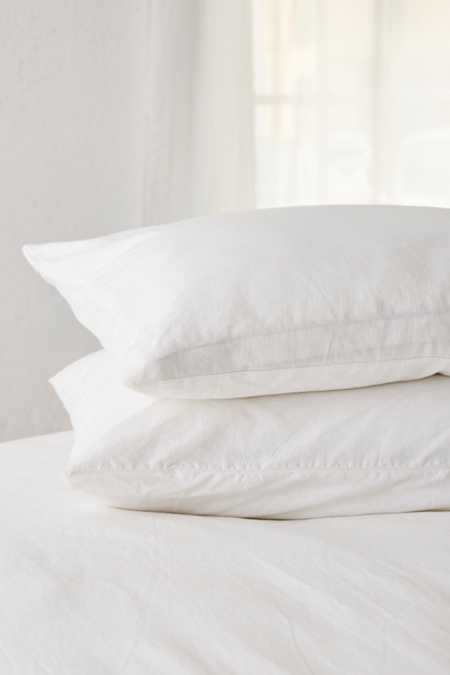 Linen Blend Pillowcase Set