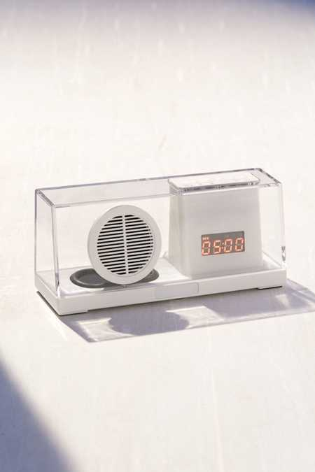 Clear Bluetooth Speaker Desk Clock