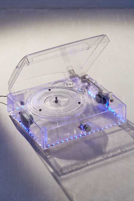 Clear LED Light-Up Turntable