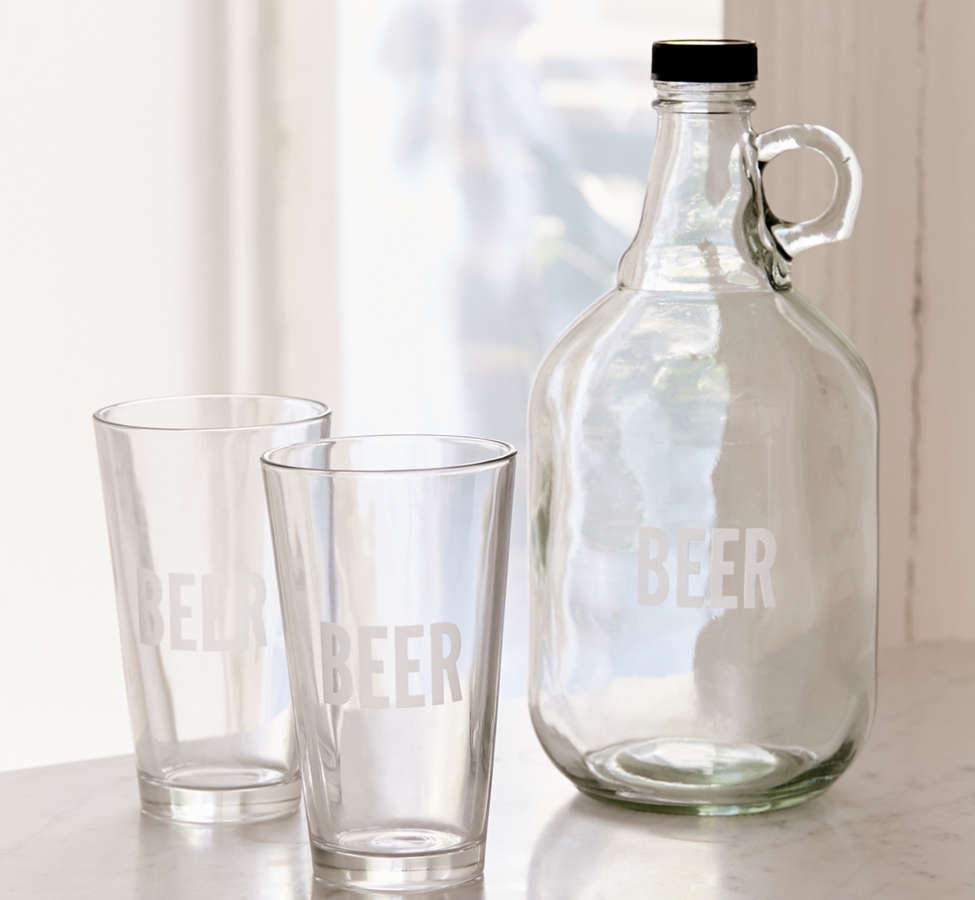 Slide View: 1: To-Go Growler + Pint Glass Set