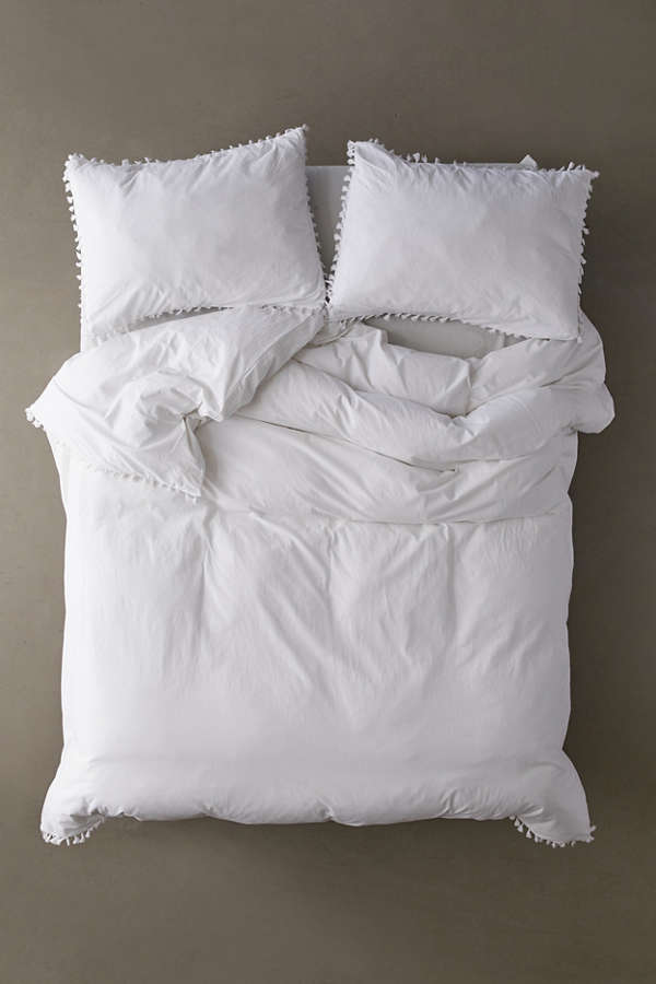 Washed Cotton Tassel Duvet Cover