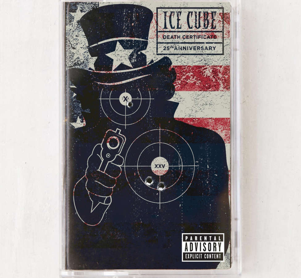 Slide View: 1: Ice Cube - Death Certificate 25th Anniversary Limited Cassette Tape