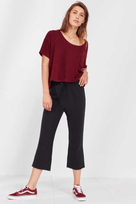 Out From Under Nina Cropped Kick Flare Sweatpant