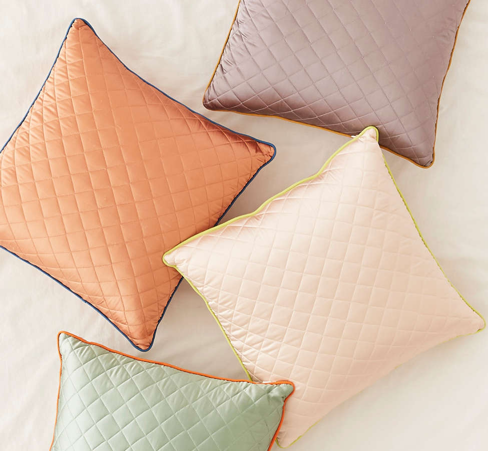 Slide View: 1: Satin Quilted Pillow