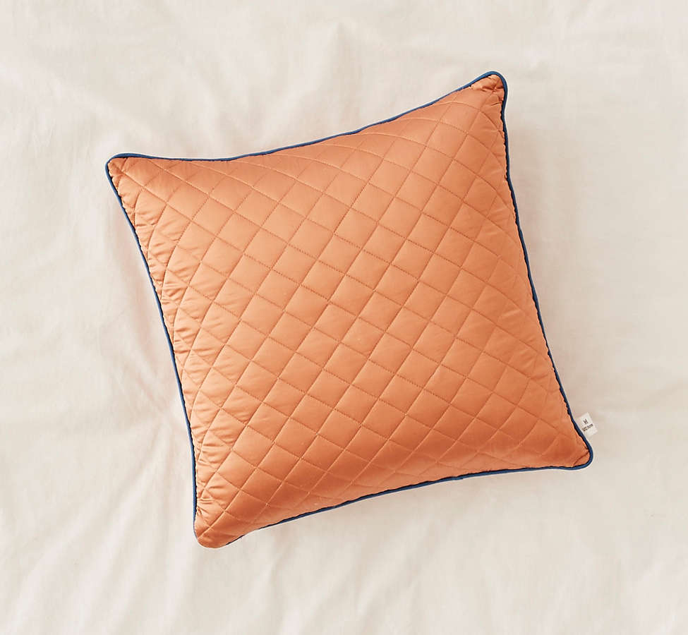 Slide View: 2: Satin Quilted Pillow