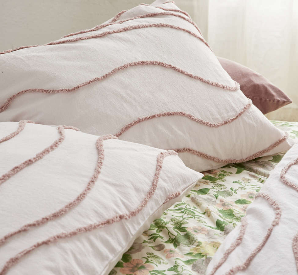 Slide View: 3: Margot Tufted Floral Sham Set