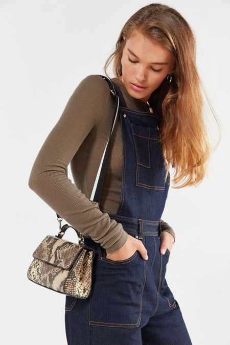 Sem Faux Snake Crossbody Bag