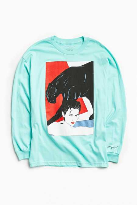 Patrick Nagel Panther Long Sleeve Tee