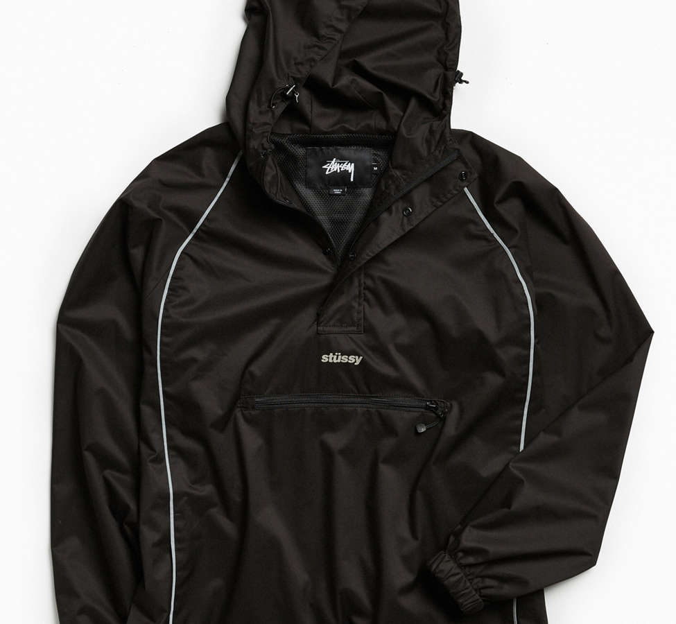 Slide View: 1: Stussy 3M Piping Pullover Windbreaker Jacket