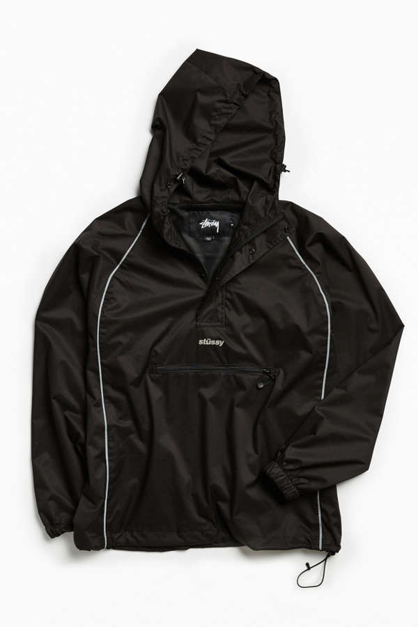 Stussy 3M Piping Pullover Windbreaker Jacket | Urban Outfitters Canada