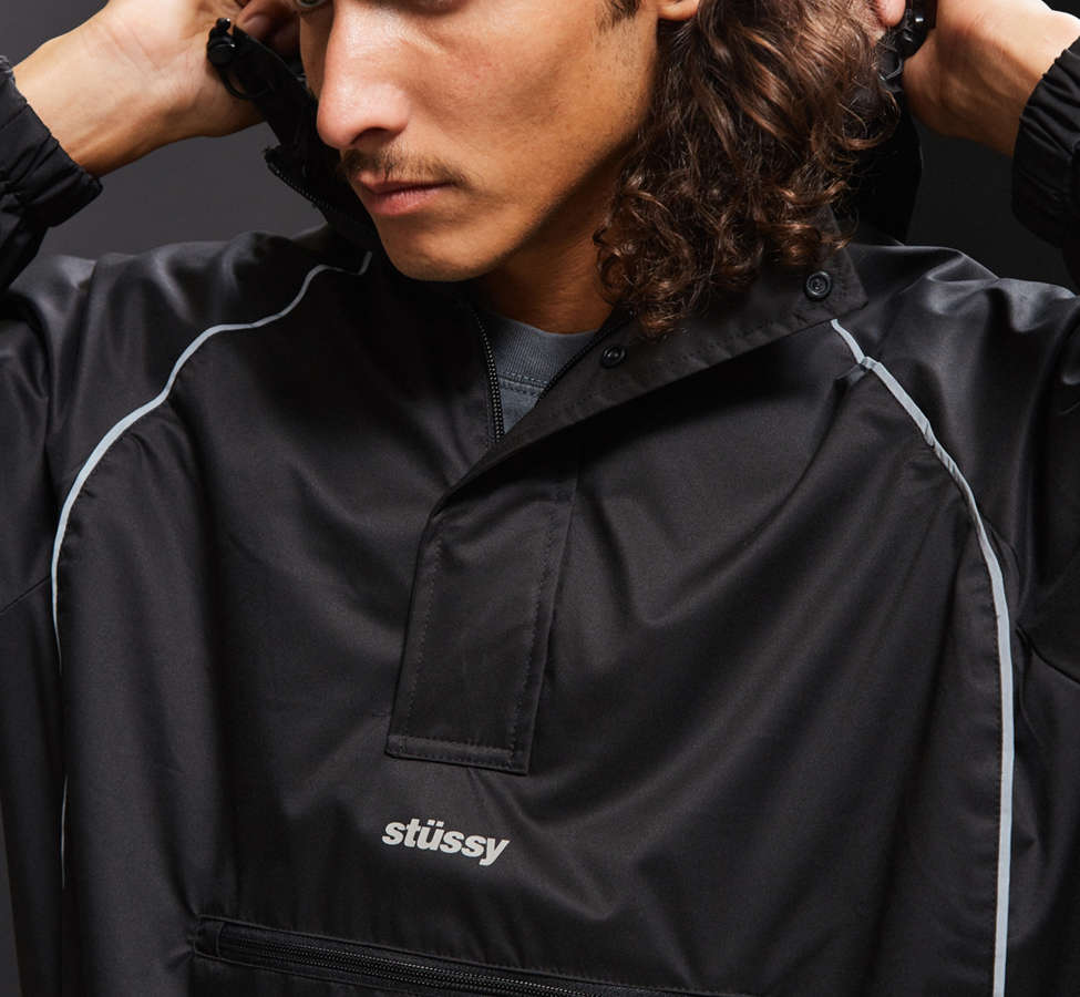 Slide View: 4: Stussy 3M Piping Pullover Windbreaker Jacket