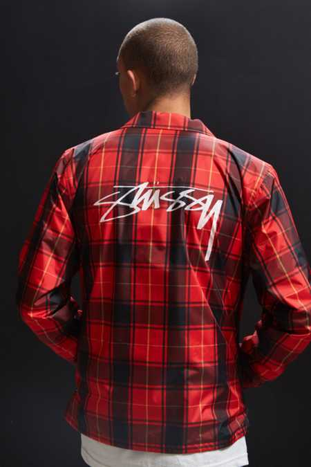 Stussy Cruize Plaid Coach Jacket