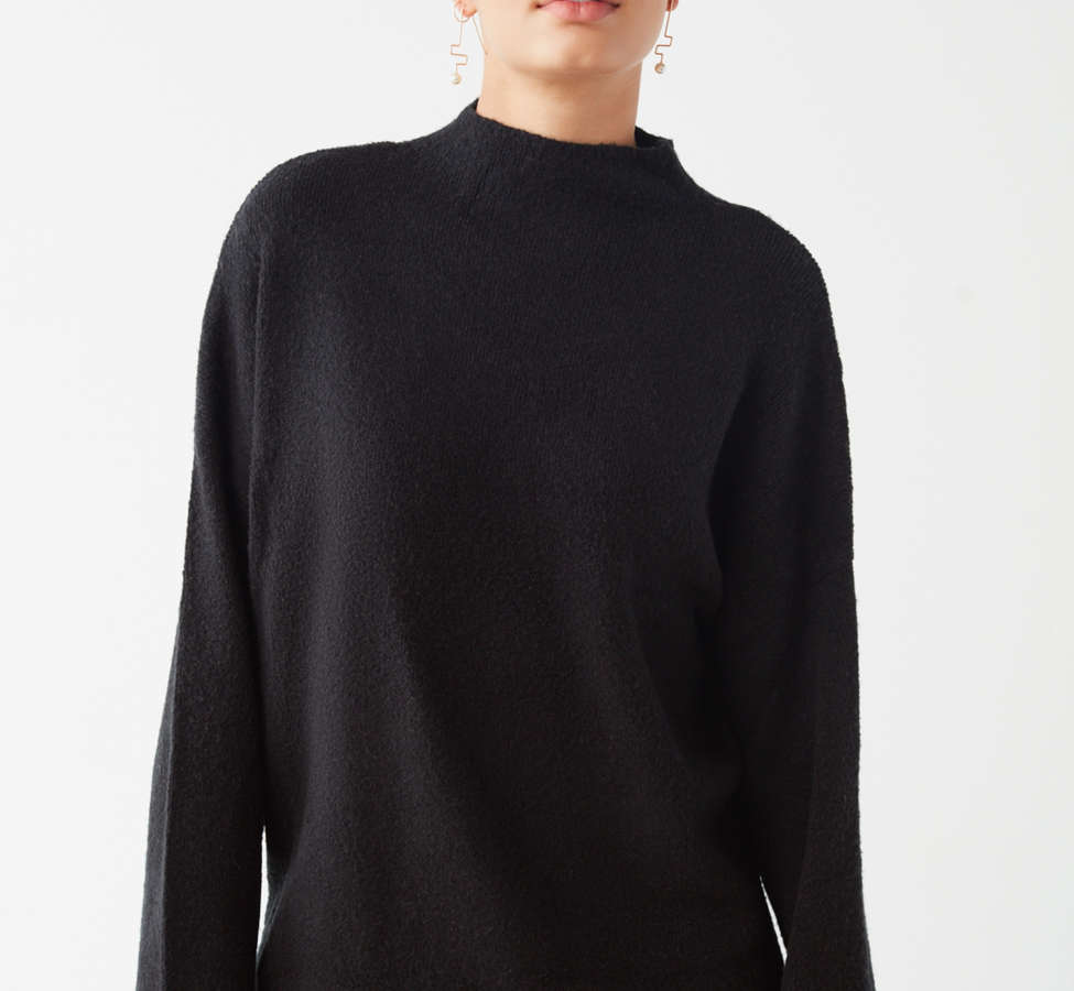 Slide View: 1: UO Benny Fuzzy Mock-Neck Sweater