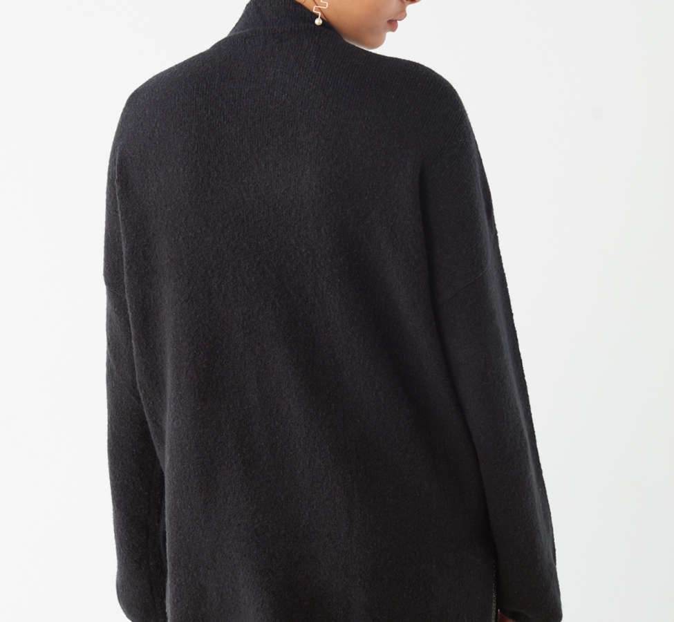Slide View: 6: UO Benny Fuzzy Mock-Neck Sweater