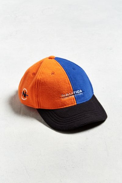Nautica + UO Polar Fleece Baseball Hat - Orange One Size at Urban Outfitters