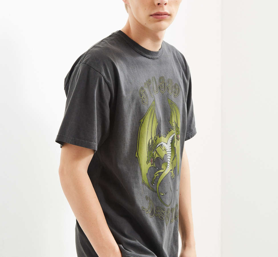 Slide View: 3: Stussy Double Dragon Pigment Dyed Tee