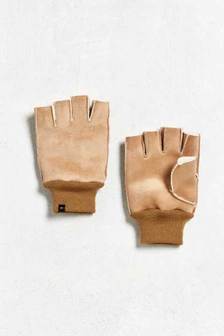 Fingerless Faux Shearling Glove