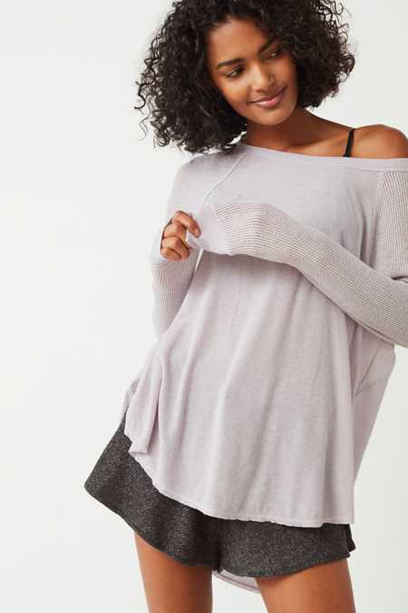 Out From Under Sophia Split Side Raglan Top