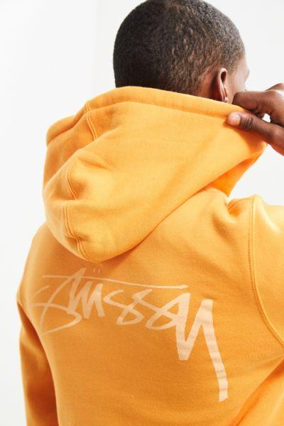 Stussy Smooth Stock Hoodie Sweatshirt - Medium Orange S at Urban Outfitters