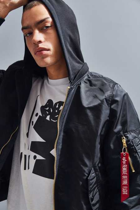 Alpha Industries L-2B Hooded Bomber Jacket