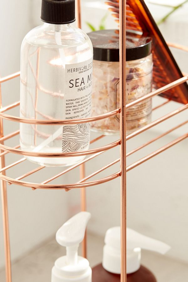 Minimal Rose Gold Standing Bathroom Storage Urban Outfitters