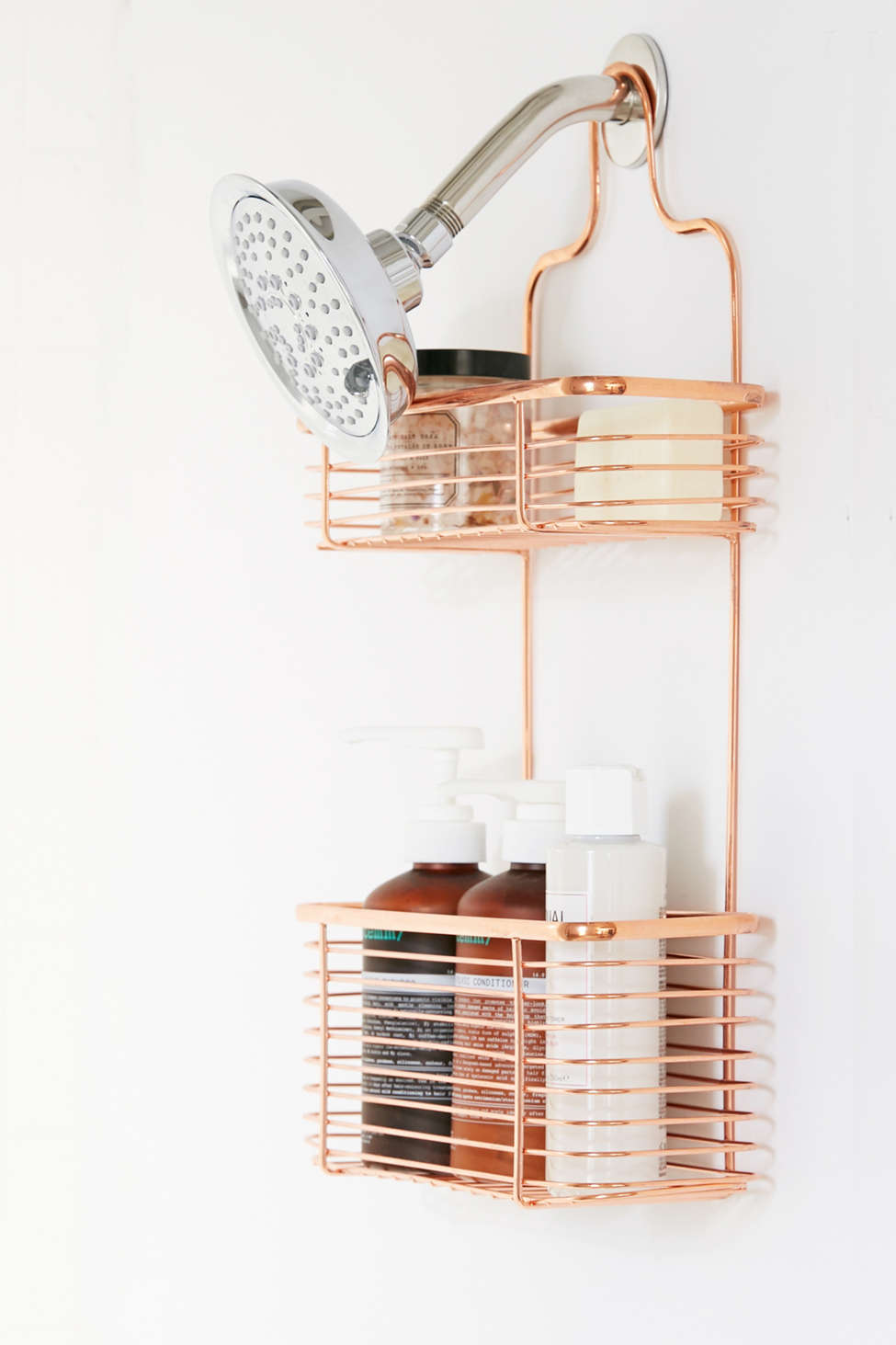 THINGS TO KNOW BEFORE MOVING OUT- SOYVIRGO.COM/ Minimal Rose Gold Shower Caddy