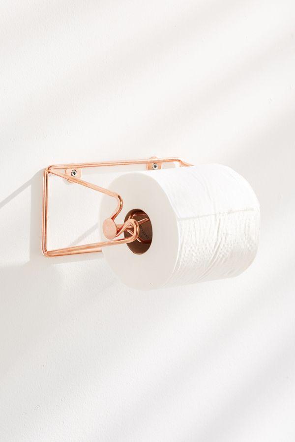 Slide View 1 Minimal Rose Gold Toilet Paper Holder