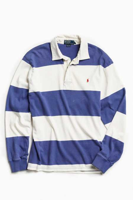 Vintage Polo By Ralph Lauren Zip Rugby Shirt