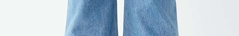Thumbnail View 2: BDG Cropped Denim Culotte - Distressed