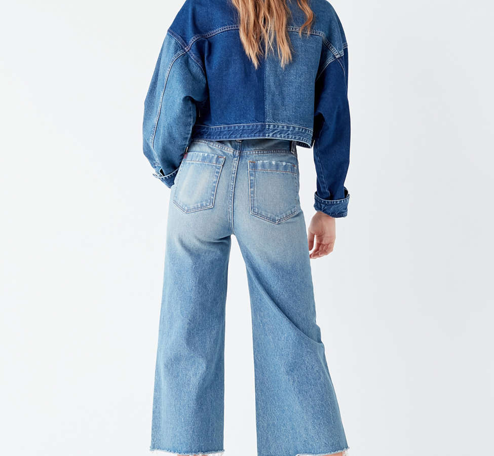 Slide View: 4: BDG Cropped Denim Culotte - Distressed