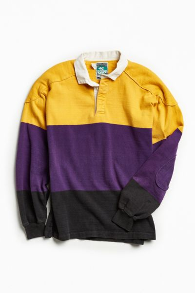Vintage McIntosh & Seymour Yellow + Purple Rugby Shirt