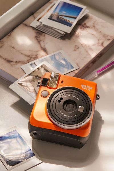 Fujifilm X UO Instax Mini 70 Instant Camera - Bright Orange One Size at Urban Outfitters