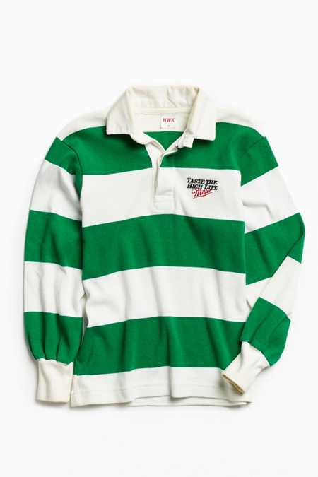 Vintage Miller High Life Green Multi Rugby Shirt