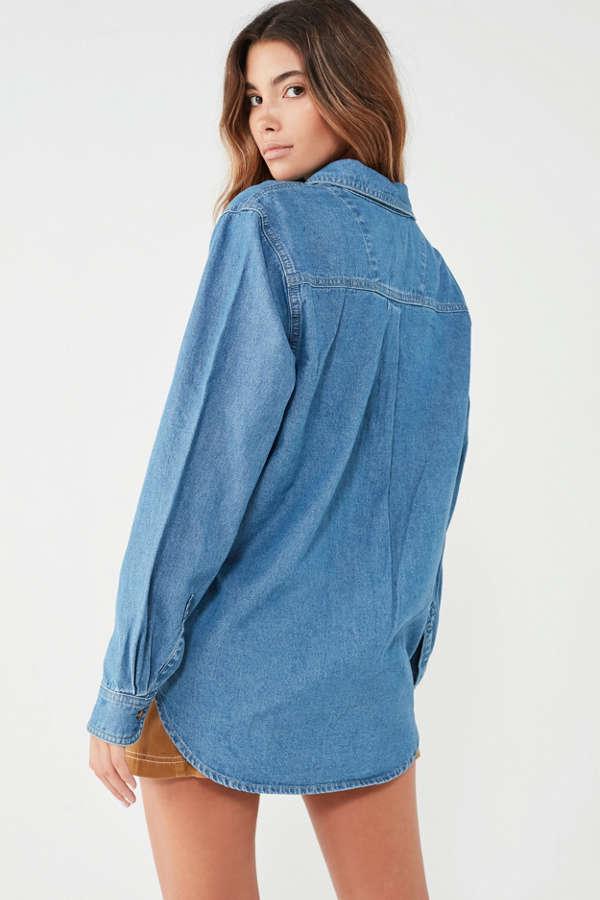 UO Denim Button-Down Shirt | Urban Outfitters