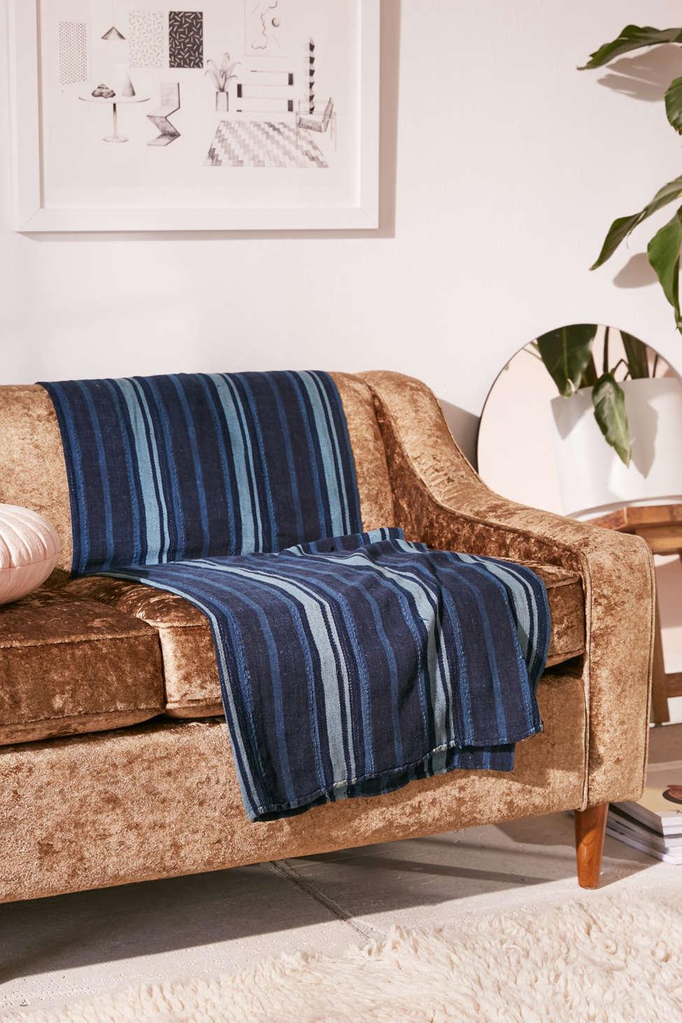 Slide View: 4: One-Of-A-Kind Vintage Indigo Textile