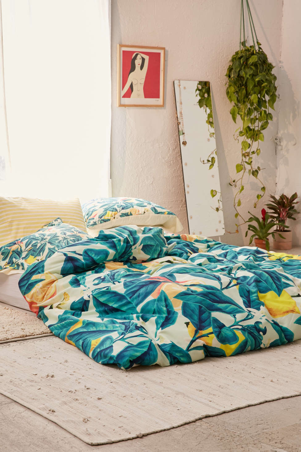 Slide View: 2: 83 Oranges For Deny Lemon Pattern Duvet Cover
