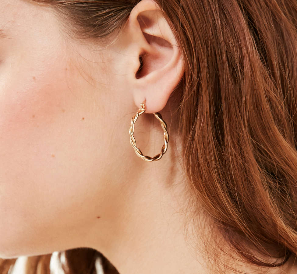 Slide View: 1: Vanessa Twisted Hoop Earring