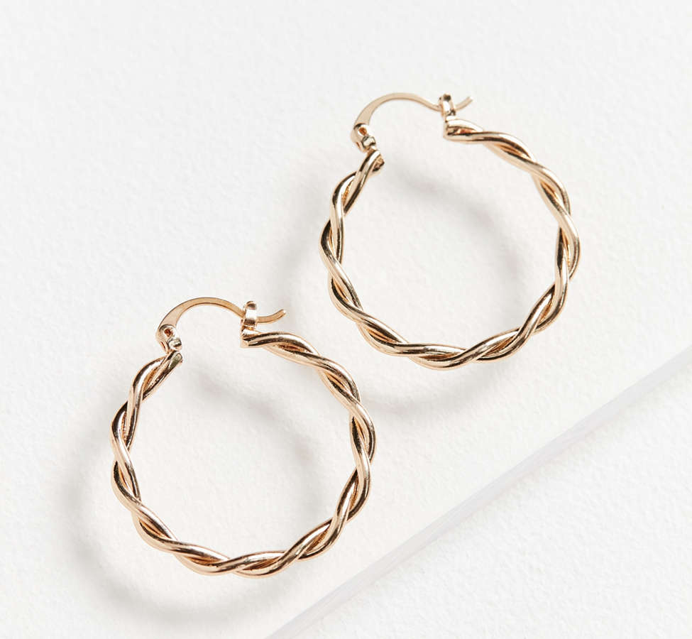 Slide View: 2: Vanessa Twisted Hoop Earring