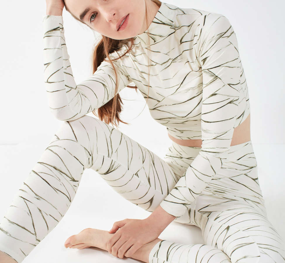 Slide View: 4: Out From Under Ivory Printed Legging