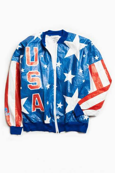 Vintage USA Olympic Rings Cycling Windbreaker Jacket