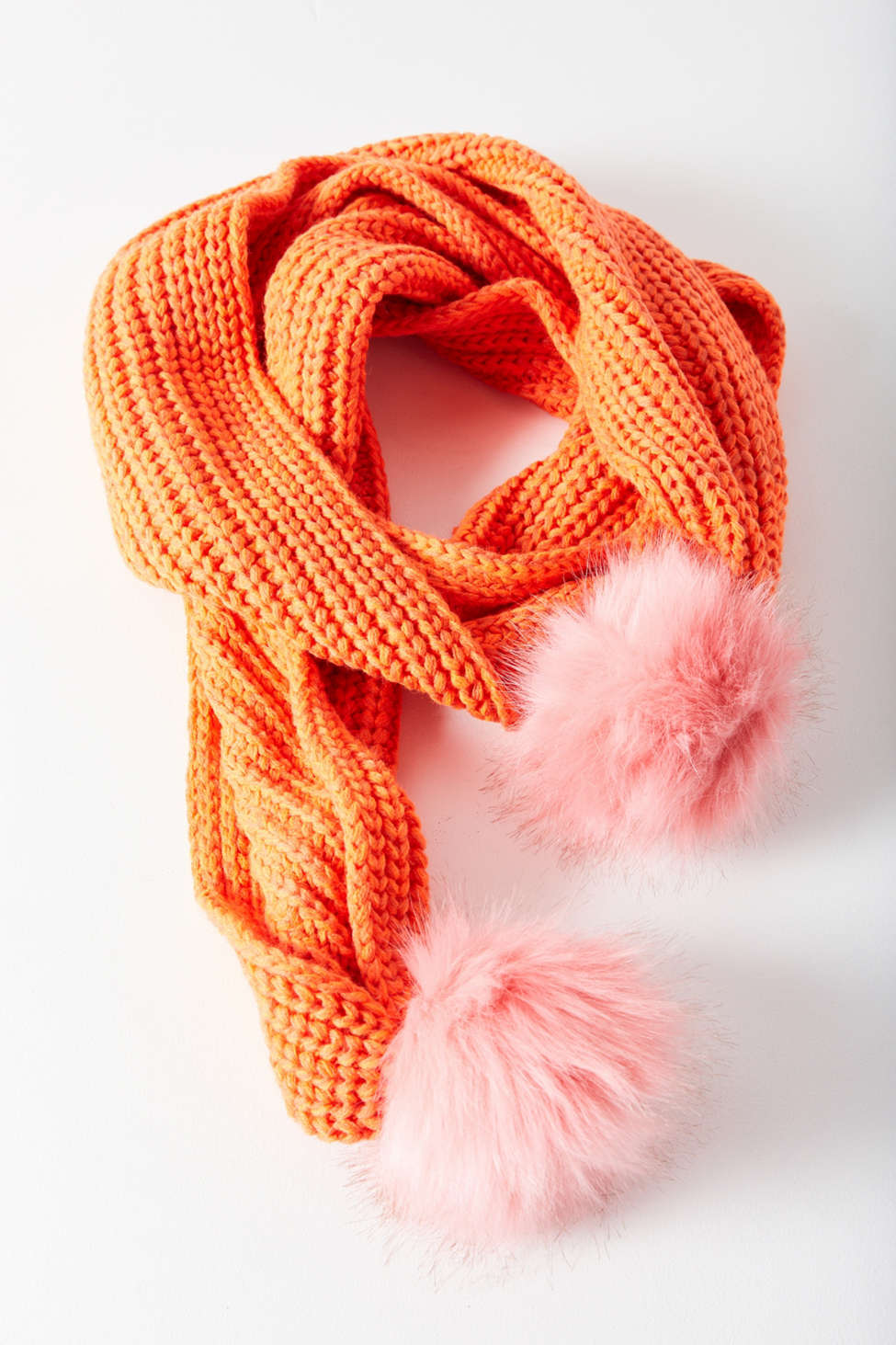 Thumbnail View 2: Colorblocked Pompom Scarf