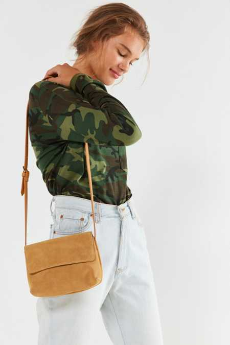 Margot Neutral Suede Crossbody Bag