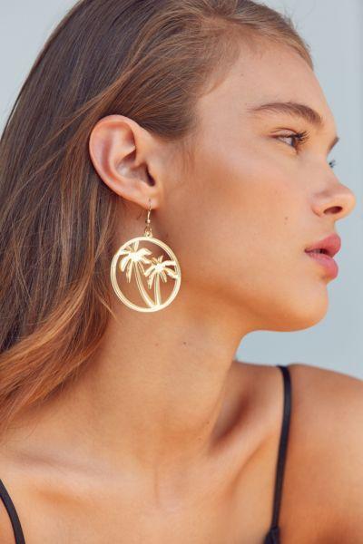 ZHUU Palm Tree Drop Earring