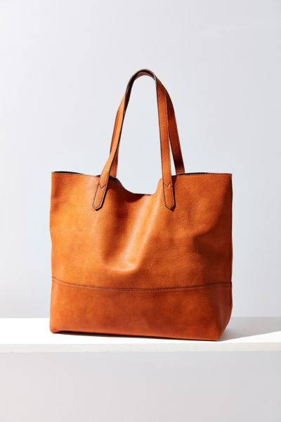 Sole Society Dawson Faux Leather Oversized Tote Bag - Brown One Size at Urban Outfitters