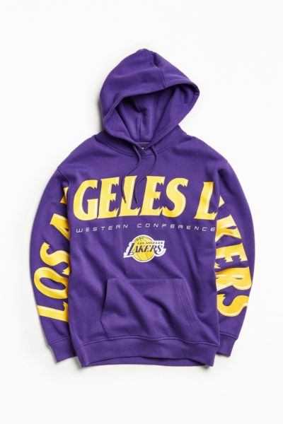 NBA Los Angeles Lakers Wingspan Hoodie Sweatshirt - Purple S at Urban Outfitters